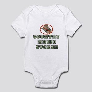 Country Music Sucks! Infant Bodysuit