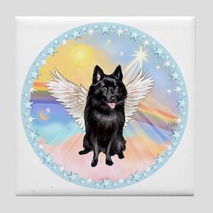 W - Schipperke Angel Tile Coaster