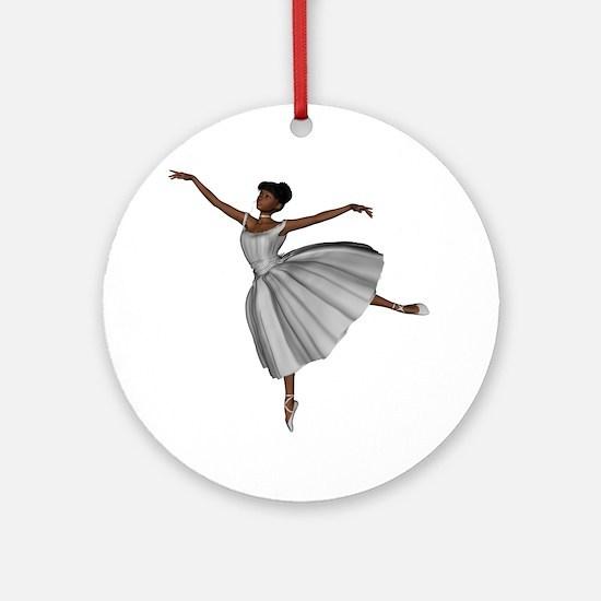 Ballerina Bride Ornament (Round)