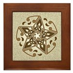 Celtic Star Framed Tile