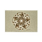 Celtic Star Rectangle Magnet