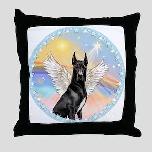 W-Great Dane Angel Throw Pillow