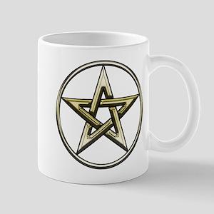 Gold Circle Pentagram Mug