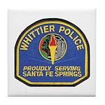 Santa Fe Springs Police Tile Coaster