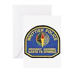Santa Fe Springs Police Greeting Cards (Pk of 10)
