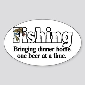 One Beer At A Time Oval Sticker
