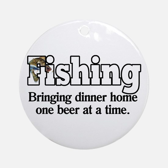 One Beer At A Time Ornament (Round)