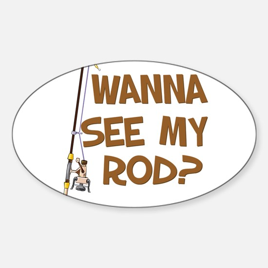 See My Rod? Oval Decal