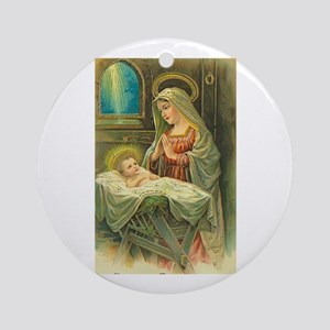 Mary & Jesus Ornament (Round)
