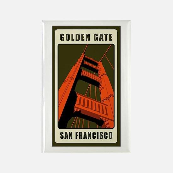 Golden Gate Rectangle Magnet (10 pack)