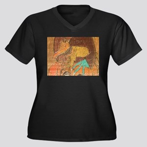 Evil Pet Women's Plus Size V-Neck Dark T-Shirt