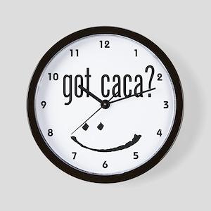 got caca? Wall Clock
