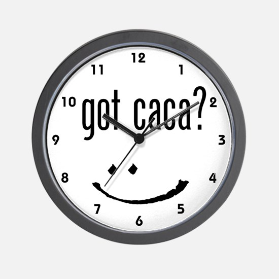 got caca? Wall Clock