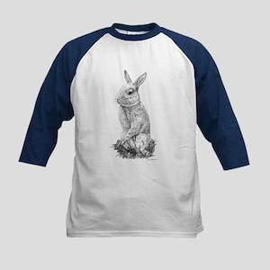 Mini Rex Rabbit - Cinnamon Kids Baseball Jersey