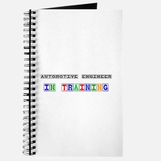 Automotive Engineer In Training Journal