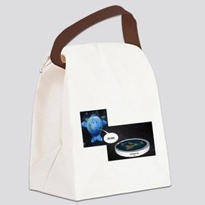 Flat Earth Today Canvas Lunch Bag