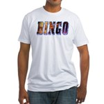 Bingo Text Fitted T-Shirt