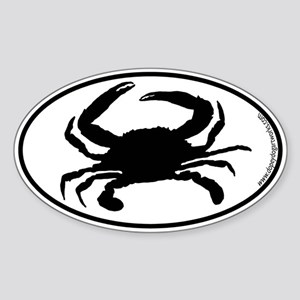 Crab SILHOUETTE Oval Sticker