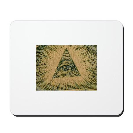 eye of the dollar Mousepad