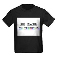 Au Pair In Training Kids Dark T-Shirt