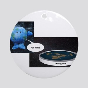 Flat Earth Today Round Ornament