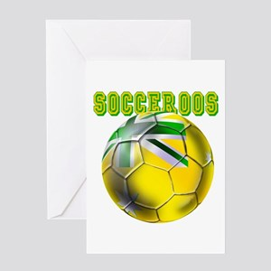 Socceroos Football Greeting Cards