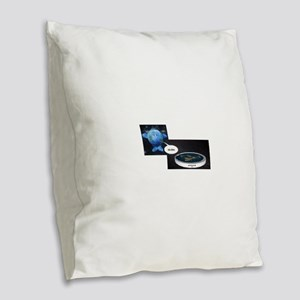 Flat Earth Today Burlap Throw Pillow