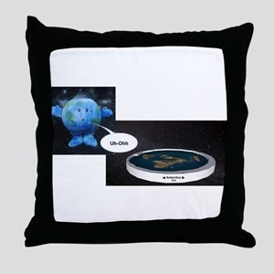 Flat Earth Today Throw Pillow