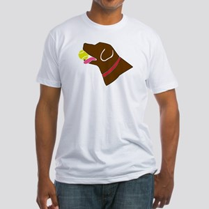 Chocolate Lab Fitted T-Shirt