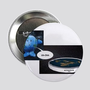 """Flat Earth 2.25"""" Button"""