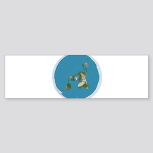 Flat Earth Large Wall Clock Bumper Sticker