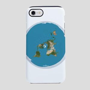 Flat Earth Large Wall Clock iPhone 8/7 Tough Case