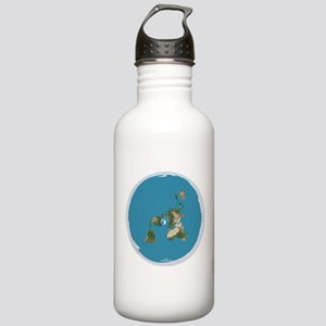Flat Earth Large Wall Stainless Water Bottle 1.0L