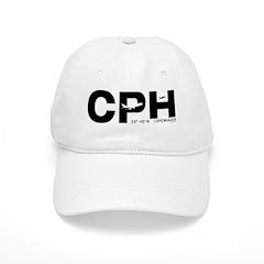 Copenhagen Airport Denmark CPH Black Des. Baseball Cap
