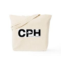 Copenhagen Airport Denmark CPH Black Des Tote Bag