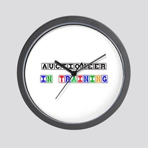 Auctioneer In Training Wall Clock