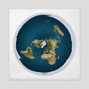 Flat Earth 1 Queen Duvet