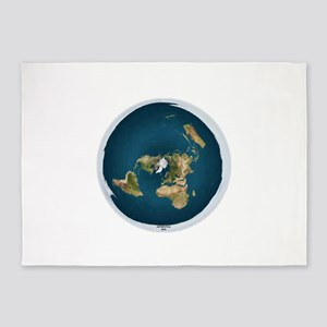 Flat Earth 1 5'x7'Area Rug