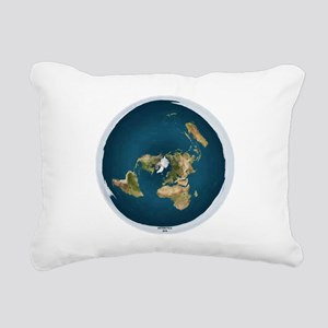 Flat Earth 1 Rectangular Canvas Pillow
