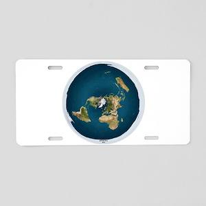 Flat Earth 1 Aluminum License Plate