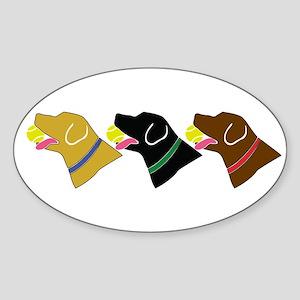 Retrivers Oval Sticker