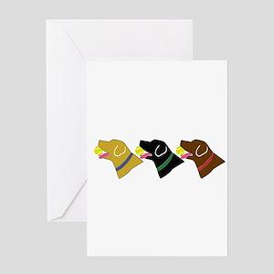 Retrivers Greeting Card