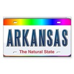 Arkansas Rectangle Sticker 10 pk)