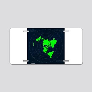 Flat Earth Map Disk Aluminum License Plate