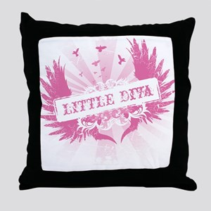 Little Diva Throw Pillow