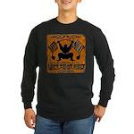 Bodybuilding Squats Ass Long Sleeve Dark T-Shirt