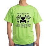 Bodybuilding Squats Ass Green T-Shirt