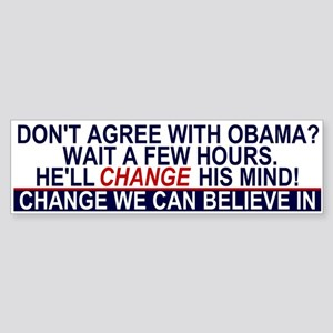 Obama's Change Bumper Sticker