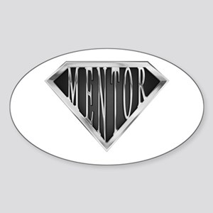 SuperMentor(metal) Oval Sticker
