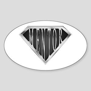 SuperMentor(metal) Oval Sticker